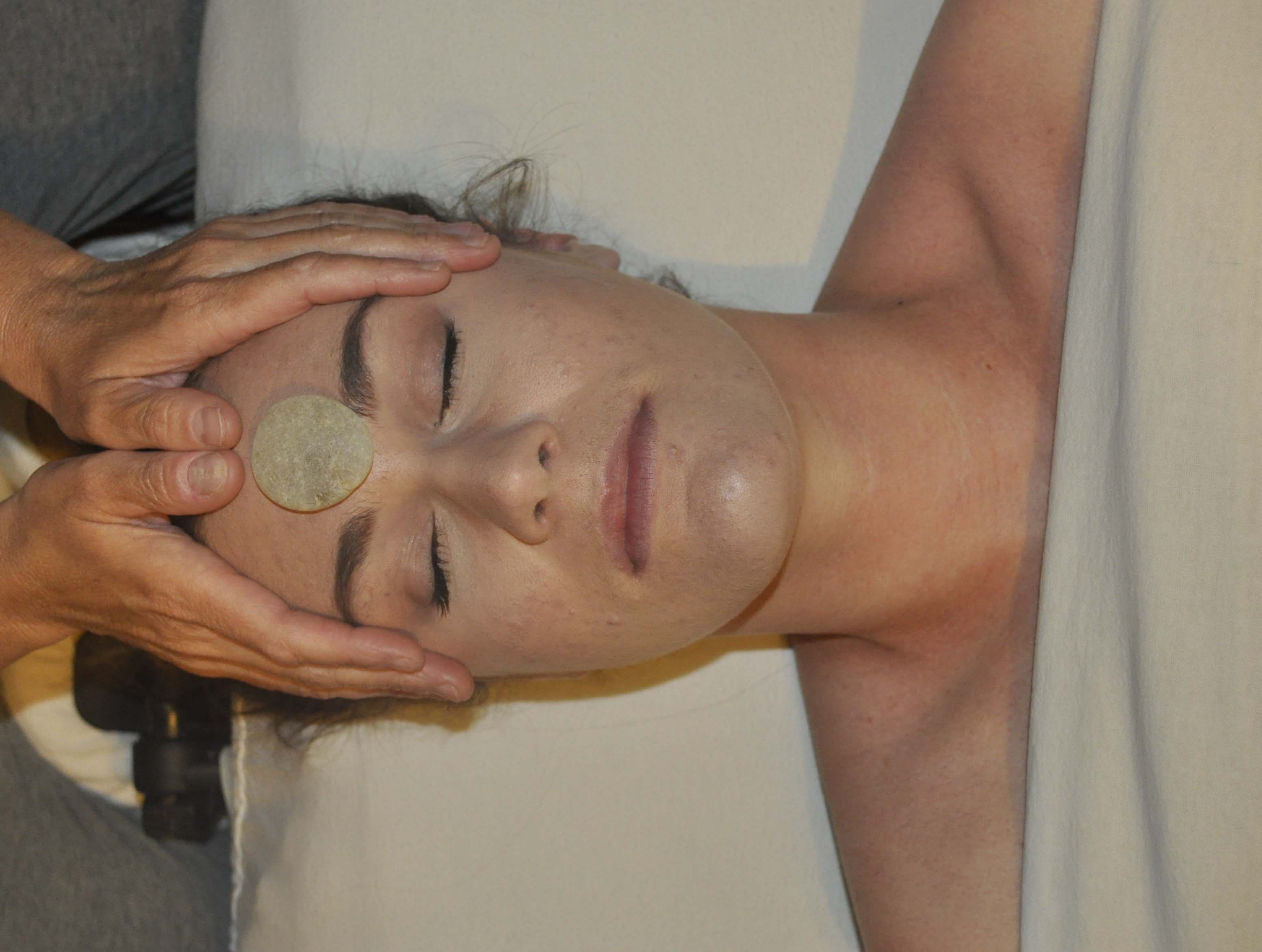 Facial massage benefits at home for release of stress, tension and worry!